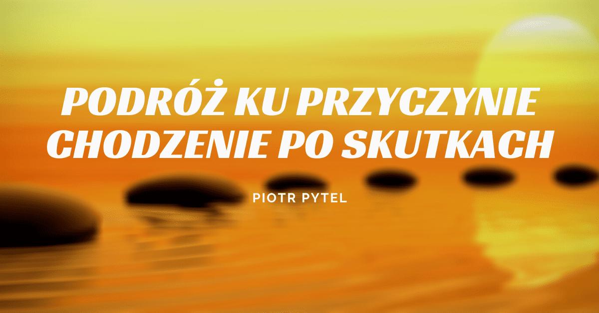 Podróż ku przyczynie - Chodzenie po skutkach  - Piotr Pytel